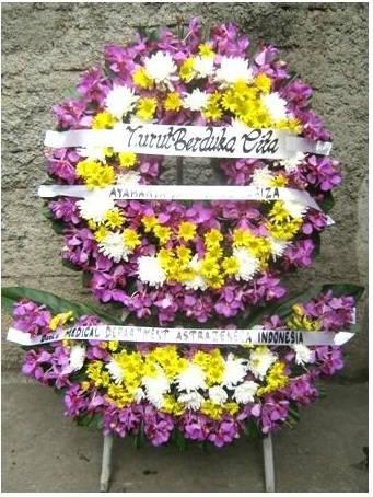 Bunga Krans Atas Bawah by Toko Bunga Sragen - Sukowati Florist